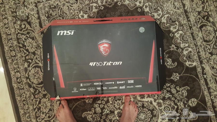 الكمبيوتر الخارق  MSI GT80S TITAN SLI  للبيع
