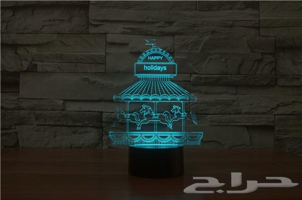 إضاءات ثلاثية الابعاد متعددة الألوان التوصيل لجميع مدن المملكة