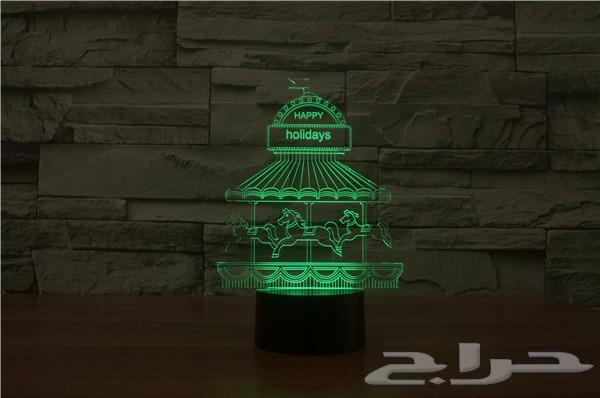 إضاءات ثلاثية الابعاد متعددة الألوان التوصيل لجميع مدن المملكة 3D