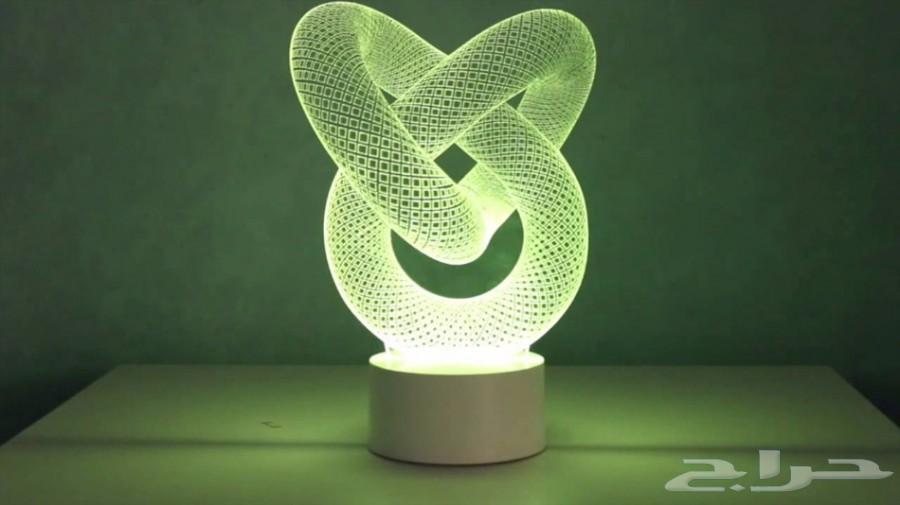 إضاءات ثلاثية الابعاد متعددة الألوان التوصيل