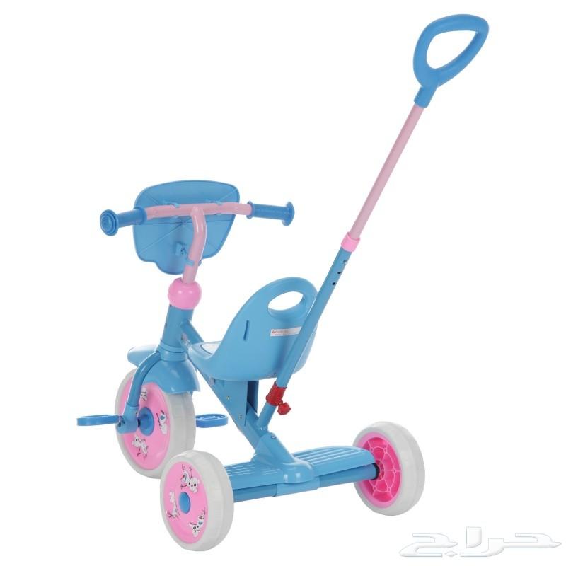 دراجة ثلاثية الكفرات مع عصا