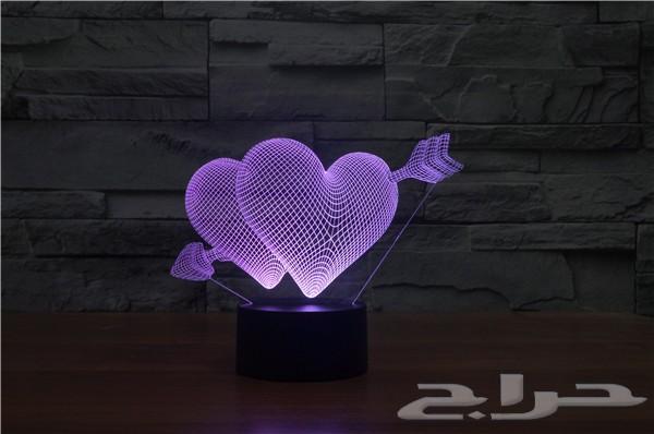 إضاءات ثلاثية الابعاد متعددة الألوان 3D