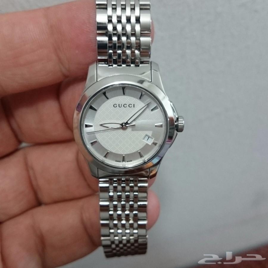 ساعة فخمة نوع قوتشي GUCCI نسائية سويسرية أصلي