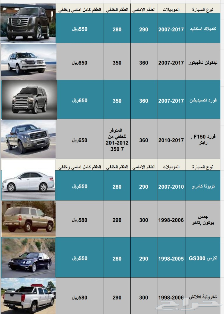 فحمات سيراميك لكزس ES350 موديلات 2007-2012